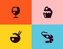 Restaurant Icon set for Adobe XD