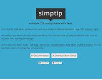 Simptip - simple css tooltip