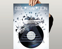 Disc*trak*tion - Animated Party Poster