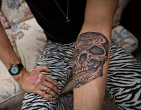 Thomas Hooper Day of the Dead Skull Tattoo Photography