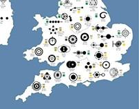 Data visualisation crop circles UK