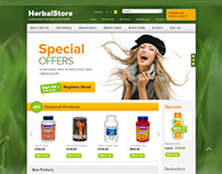Professional Care of Your Health Herbal OpenCart Theme