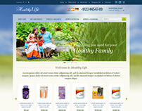 Healthy Family Life Online Store OpenCart Theme