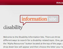 Disablity Info Site