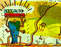 Posters, logo, menu etc  for Boogaloo Beach Bar  / 2013