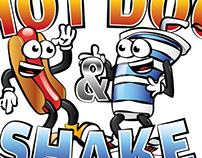 "Logo ""Hot Dog & Shake"""