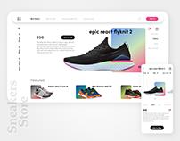 Sneakers Store: e-commerce concept