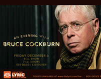 Bruce Cockburn Live at the Lyric Poster