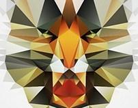 Tiger Face Triangle Polygon Vector