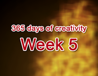 365 days of creativity/art - Week 5