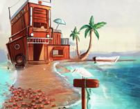 Beach, crabs and sun