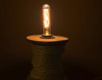 Spool lamp