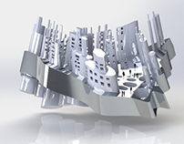 Architectural Curved City Concept