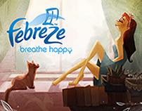 Febreze: Breathe Happy billboard design