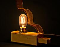 Curvy glass lamp