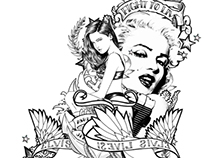 Marylin Tattoo Composition