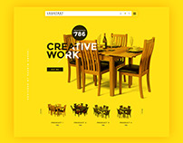 Furniture Website Template Free PSD