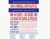 Gun raffle poster