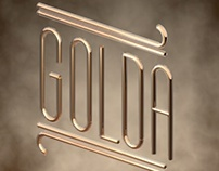 GOLDA motion typography