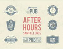 After Hours Pub Sample Logo's