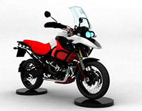 BMW 1200 GS - 3D Rendering