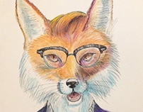 Hipster Birthday Fox
