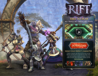 Rift Micro Site re-design