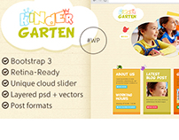 Kindergarten - Bootstrap 3 WordPress Theme