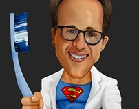 Caricature of Dentist who's also our Client!