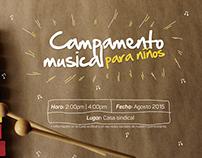 Campamento musical imagen