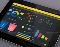 JetPack Panel - Admin Dashboard Tablet GUI Design