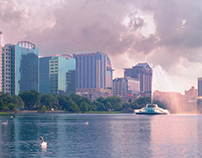 Lake Eola Panorama - 16p