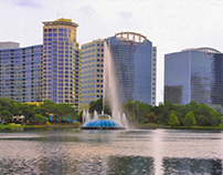 Lake Eola Panorama 13p