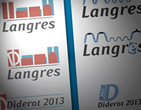 Logo ville de Langres et Diderot 2013