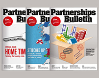 Partnerships Bulletin magazine design