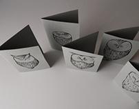 Linocut print - Owls