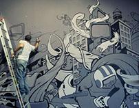 Qurius mural