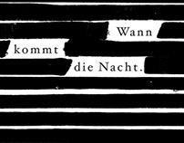 """Plakatgestaltung """"Wann kommt die Nacht"""""""
