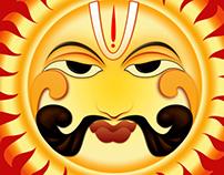 Lord Sun, Character design logo design