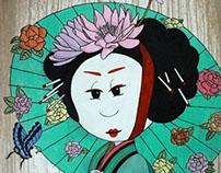 Geisha in the Garden