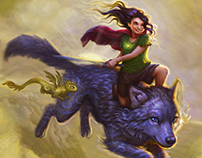 Jessica Flees on the Eternity Wolf