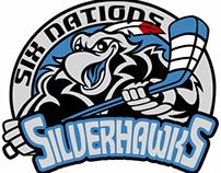 Six Nations Silverhawks - Hockey team Logo