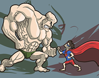 Lex Luthor vs Superman kid