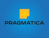 "Logo and teasers for ""PRAGMATICA"" creative agency"