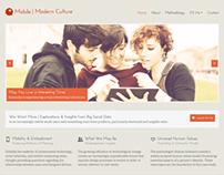 Mobile + Modern Culture Website