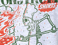 Monstrum Shirts Crazy Pizza Service