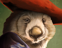 Wombat with a Red Hat