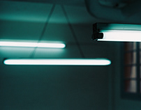 Fluorescent.