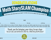 The Moth StorySLAM Promotional Materials