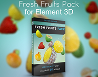 Fresh Fruits Pack for Element 3D